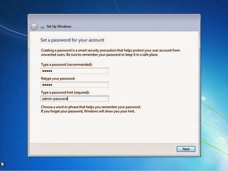 Set password for your account