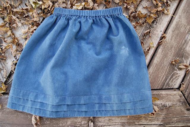 indigo dyes Oliver + S Lazy Days Skirt with hem tucks