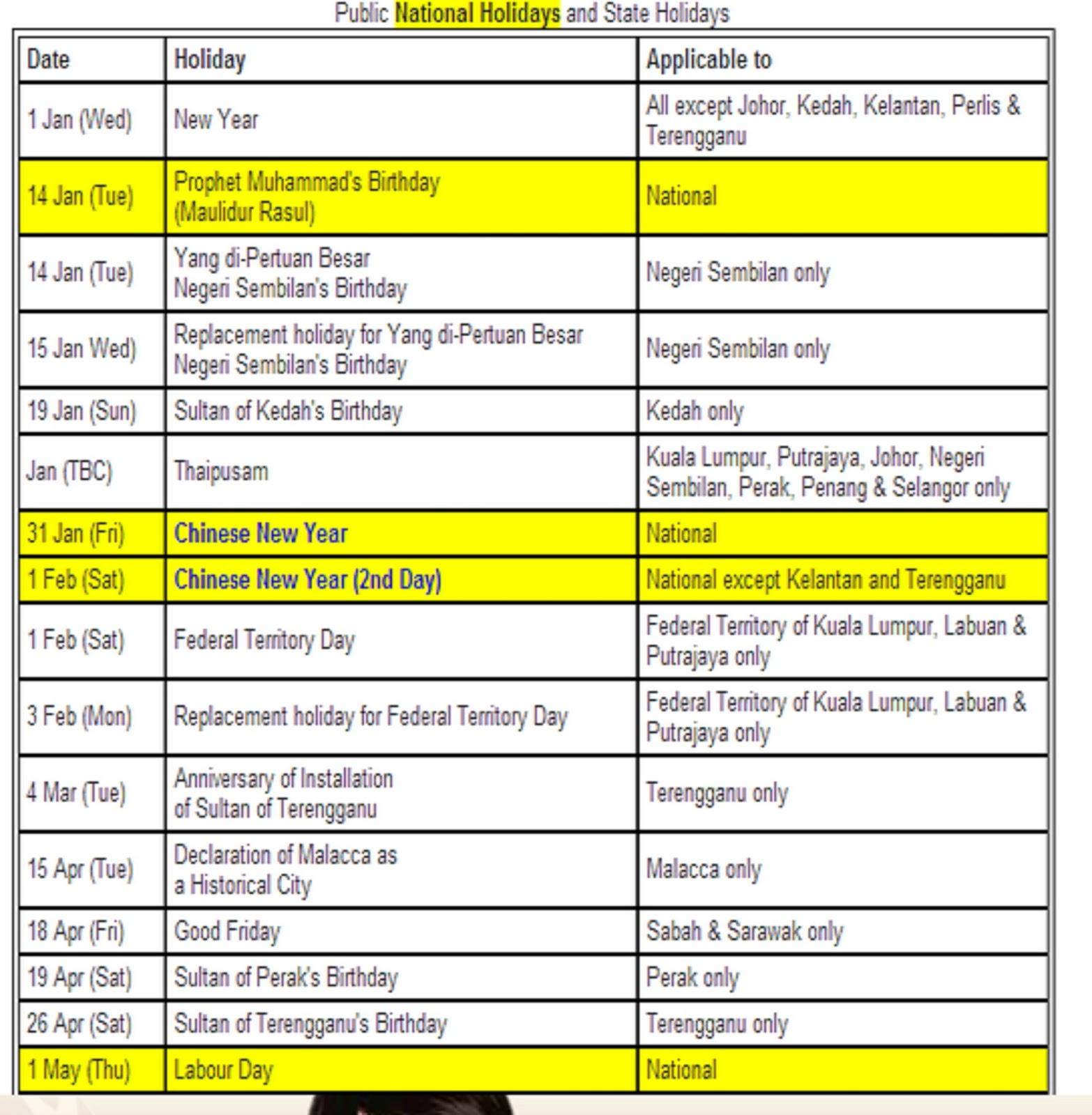 com pendidikan kalender cuti umum dan takwim sekolah 2014 malaysia