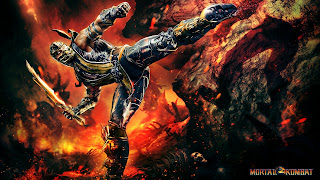 Mortal Kombat Scorpion Fire Sword HD Wallpaper