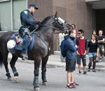 Manifestation contre le forum économique de Montréal, matin du 12 juin