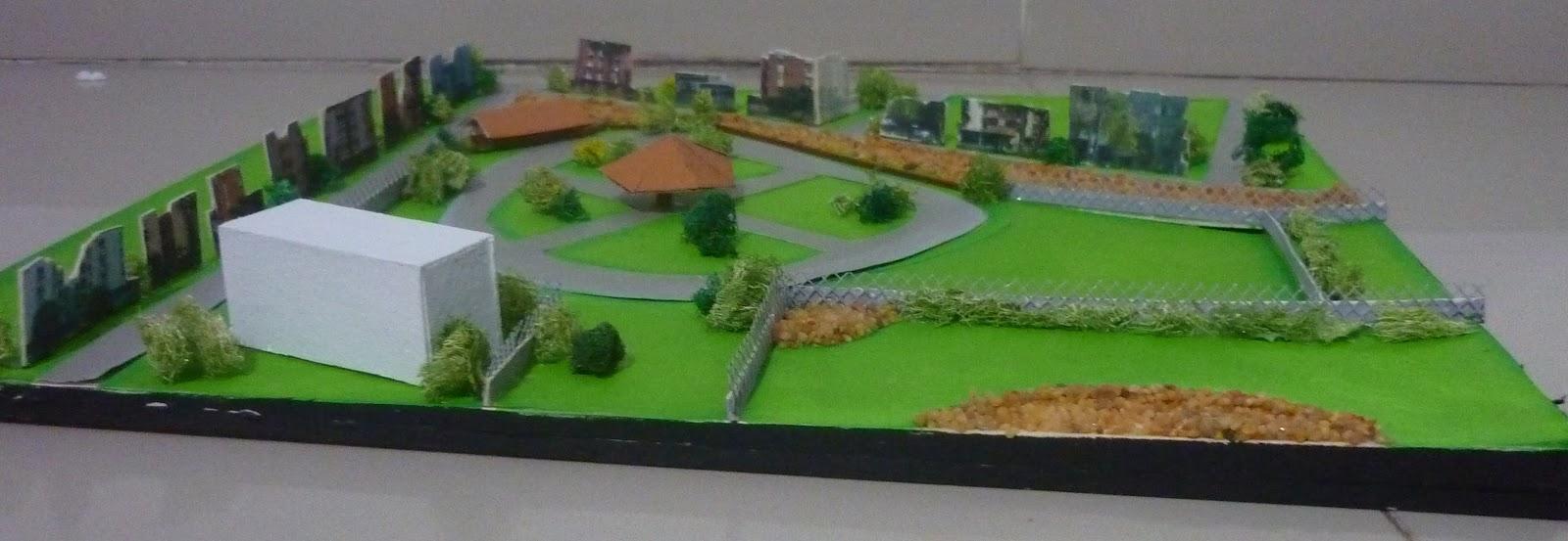 Maqueta del terreno con sus alrededores preescolar for Maquetas de jardines