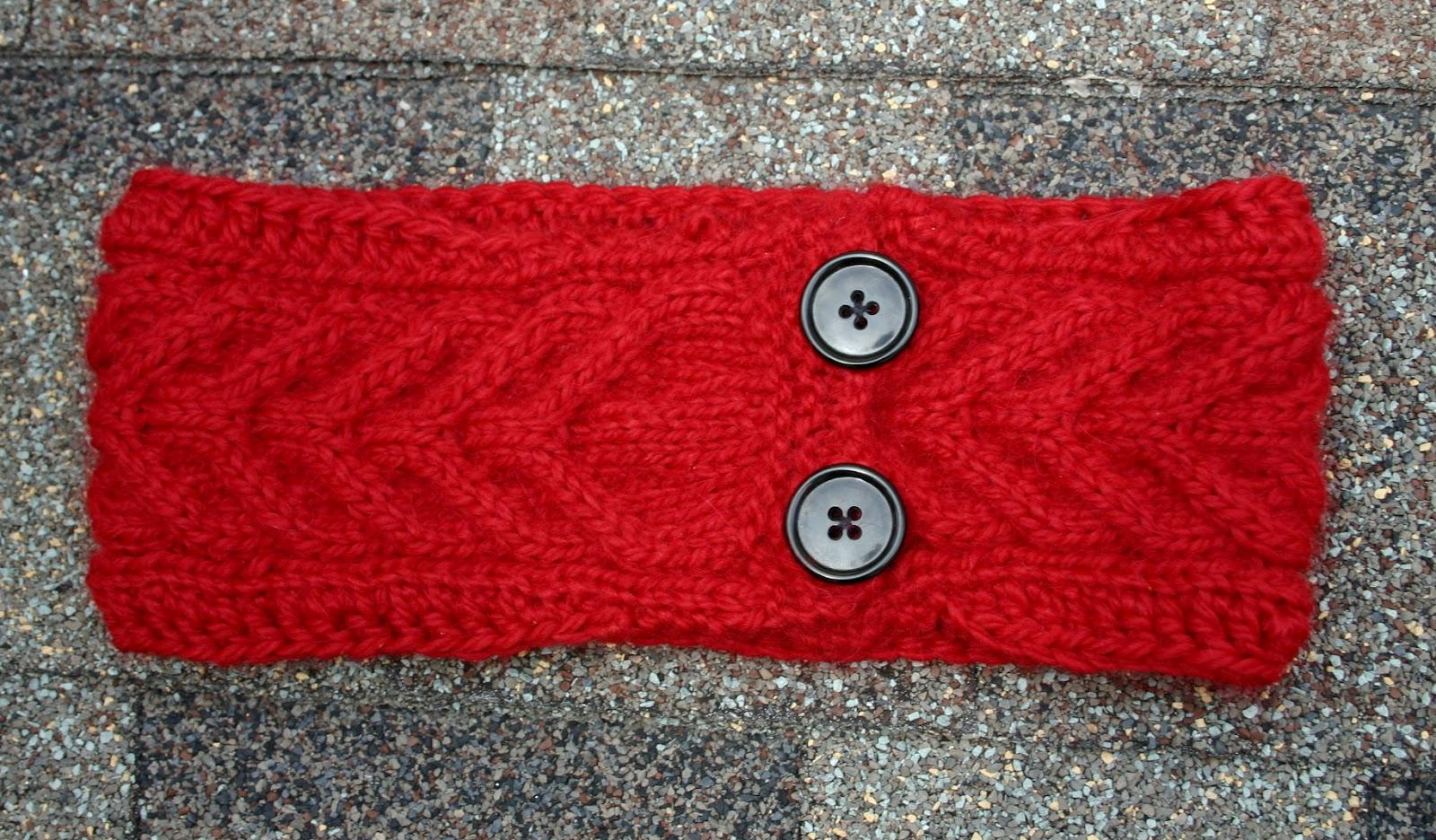 10 Knit Headband Patterns with Button - The Funky Stitch