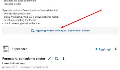 Come integrare foto, video e presentazioni al profilo Linkedin