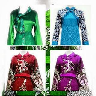 Model Baju Batik Gamis Modern Wanita Terbaru