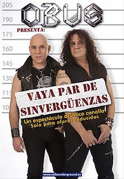 Fortu y Paco de Obús de gira con Vaya par de sinvergüenzas