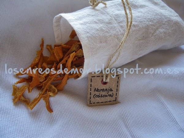 Bolsita de tela para condimentos y hierbas aromáticas
