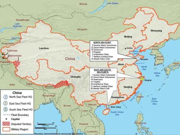 Peta Pangkalan Militer China