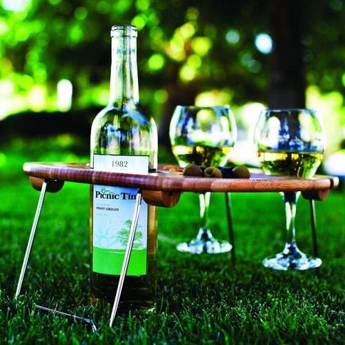 Tabla de vino para picnic