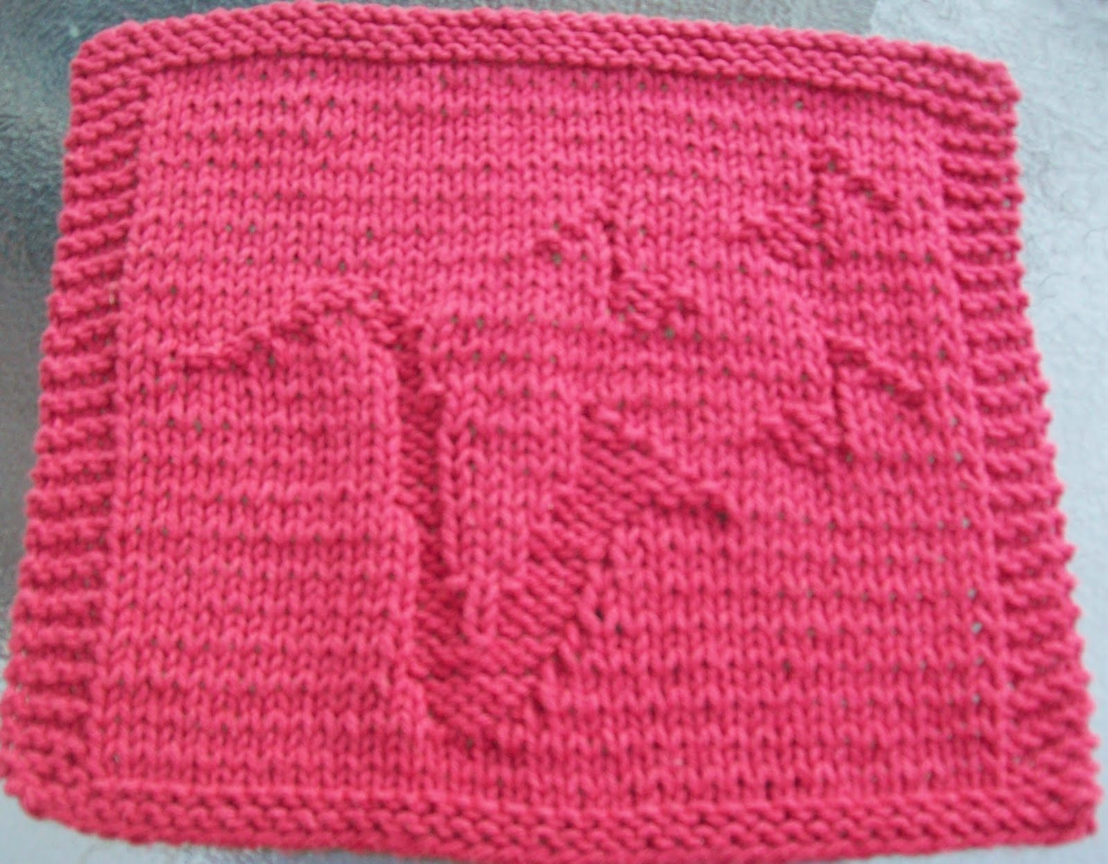 DigKnitty Designs: Saxophone Knit Dishcloth Pattern