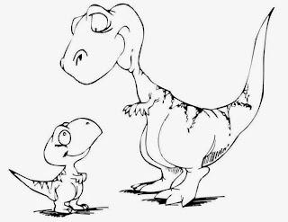 Gratis Ausmalbilder Dinosaurier - Kostenlose Ausmalbilder und Malvorlagen: Dinosaurier und