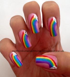 rainbow nails nail art