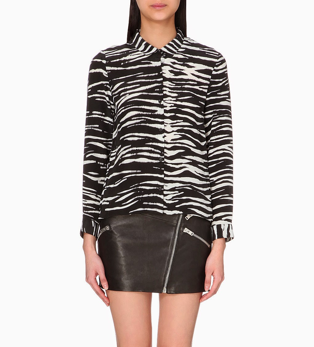 kooples zebra shirt