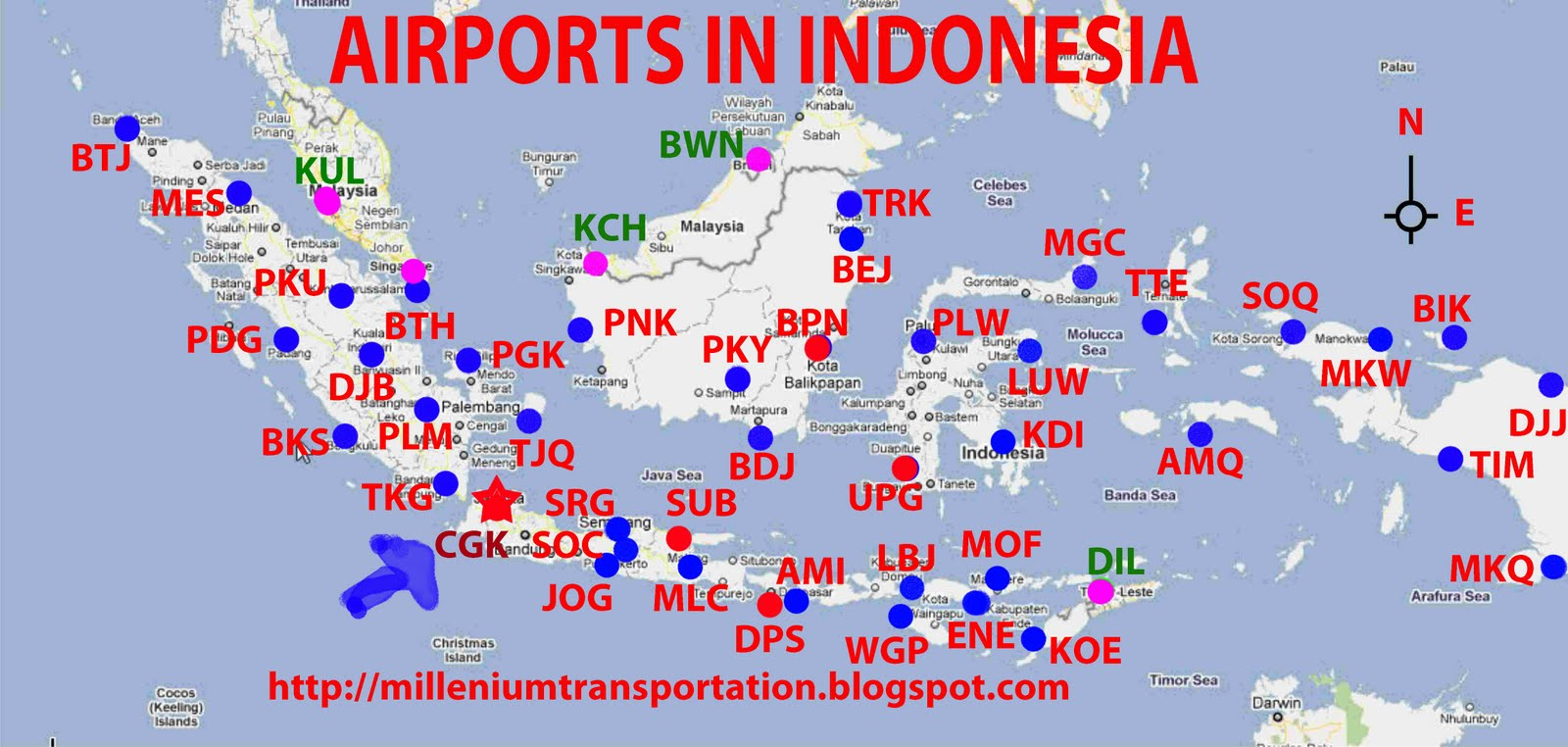 Trip To The World Airports In Indonesia - World airports map