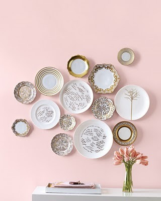 Style Decor More Pretty Plates on Display Creative