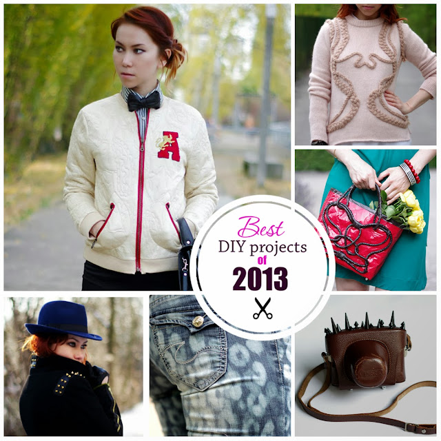 Best DIY fashion projects of 2013. Created by Xenia Kuhn for lifestyle blog www.fashionrolla.com