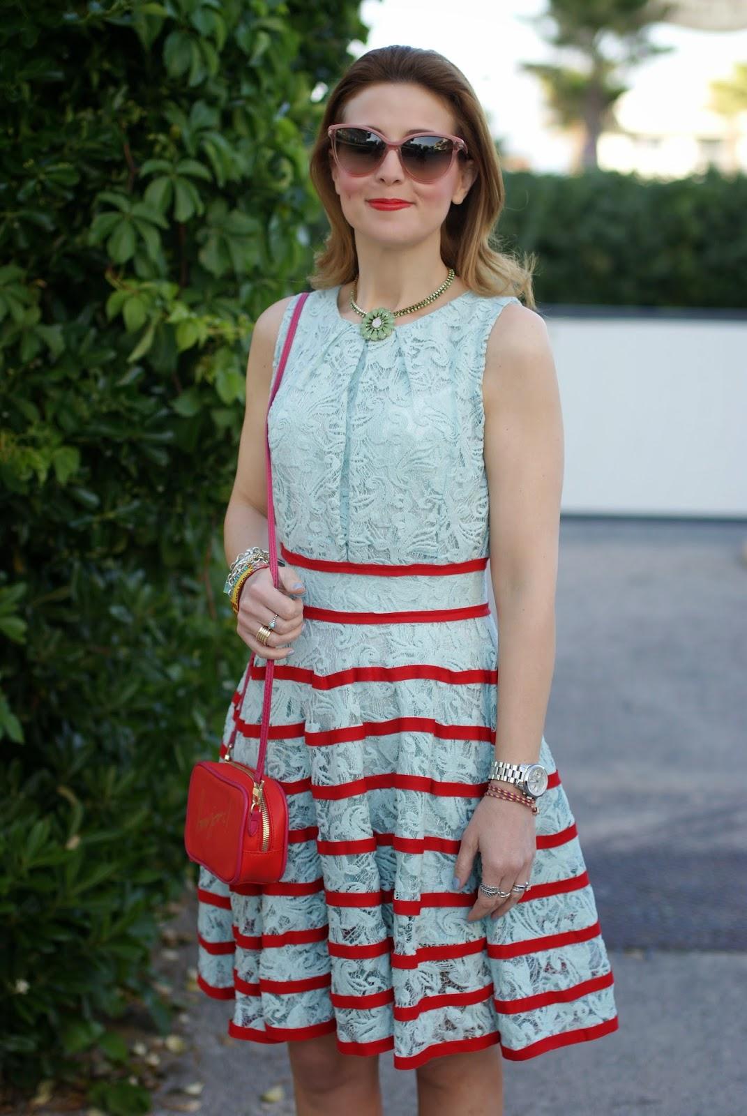 mint chicwish lace dress, Stella McCartney cat eye sunglasses, Fashion and cookies, fashion blogger
