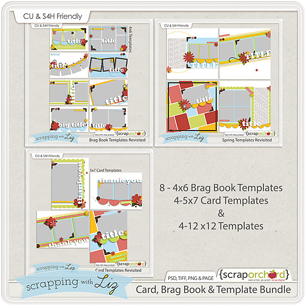 http://scraporchard.com/market/Card-Brag-Book-Digital-Scrapbook-Template-Bundle.html