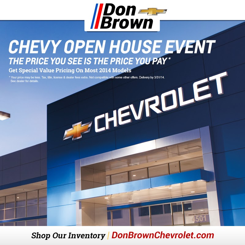 The Chevy Open House Event at Don Brown!