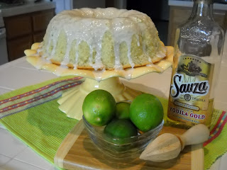 Recipe: Tequila-lime pound cake with vanilla (lime) glaze
