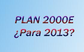 Ayudas del plan 2000E para 2013