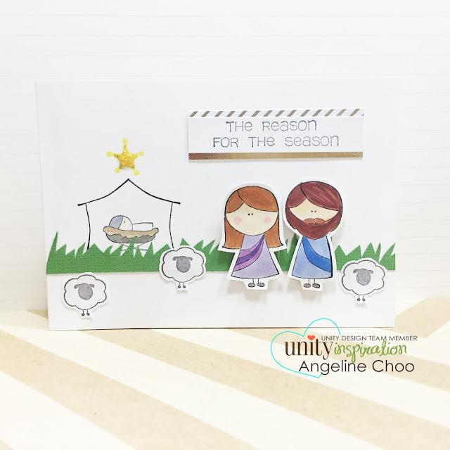ScrappyScrappy: Jesus is the reason for the season #scrappyscrappy #unitystampco #christmas #nativity #jesus #card