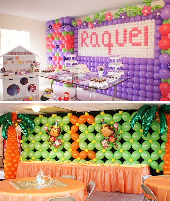 Balloon Wall Party Backdrop