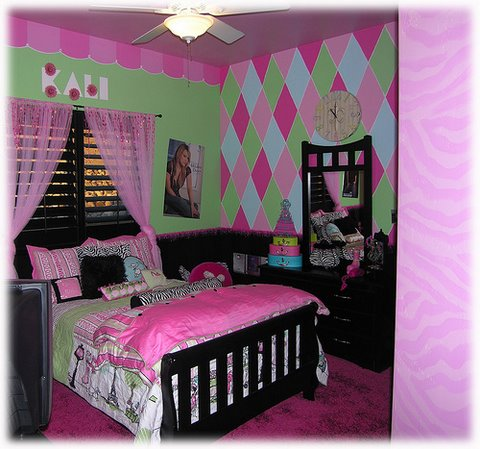 Modern home interior design bedroom wall design forms for Girls bedroom paint ideas
