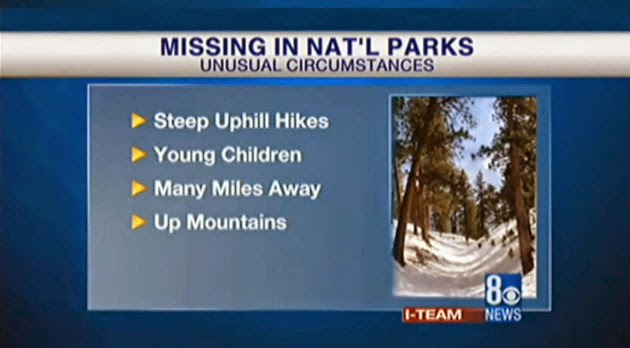Missing people  in National Parks