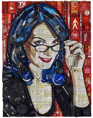 recycled celebrities art by Jason Mecier 9 Bila Sampah Dijadikan Lukisan Selebriti