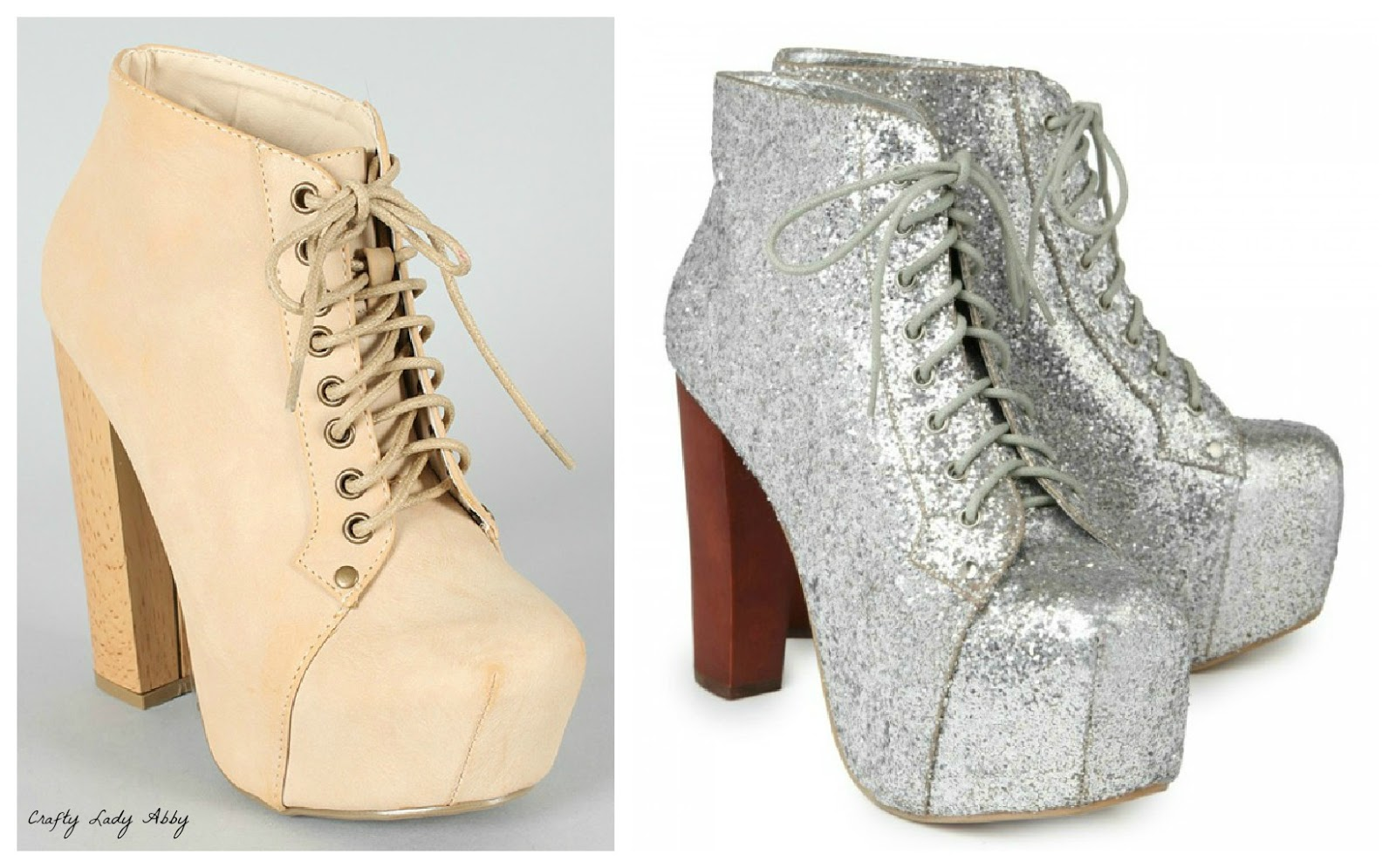 shoes tutorial my silver glitter boots