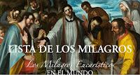LISTA DE LOS MILAGROS EUCARISTICOS EN EL MUNDO