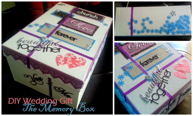 Blue and Purple Photo Personalized Keepsake Memory Box Handmade