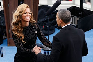 Beyonce Perfoms Lip-Sync on Inauguration Barack Obama