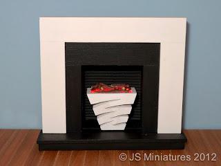 Modern Fireplace by JS Miniatures