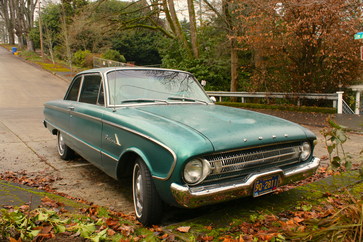 1961 Ford Falcon two-door sedan.