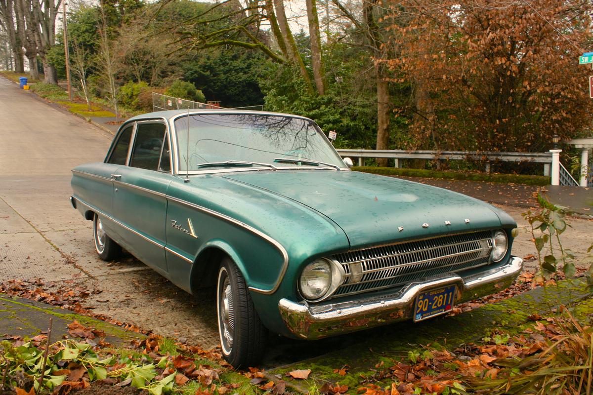 1961 Ford Falcon two-door sedan.