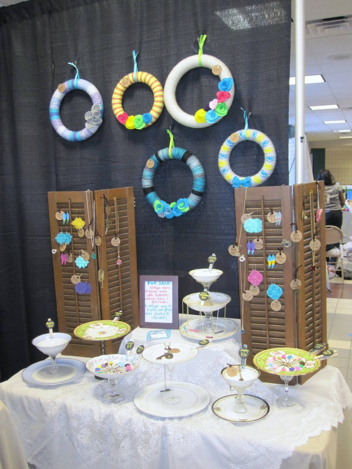 Lazy owl boutique spring craft show display for Display necklaces craft fair