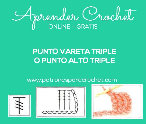Como tejer la vareta triple o punto alto triple