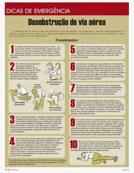 Desobstrução de Via Aéria - Revista Emergencia