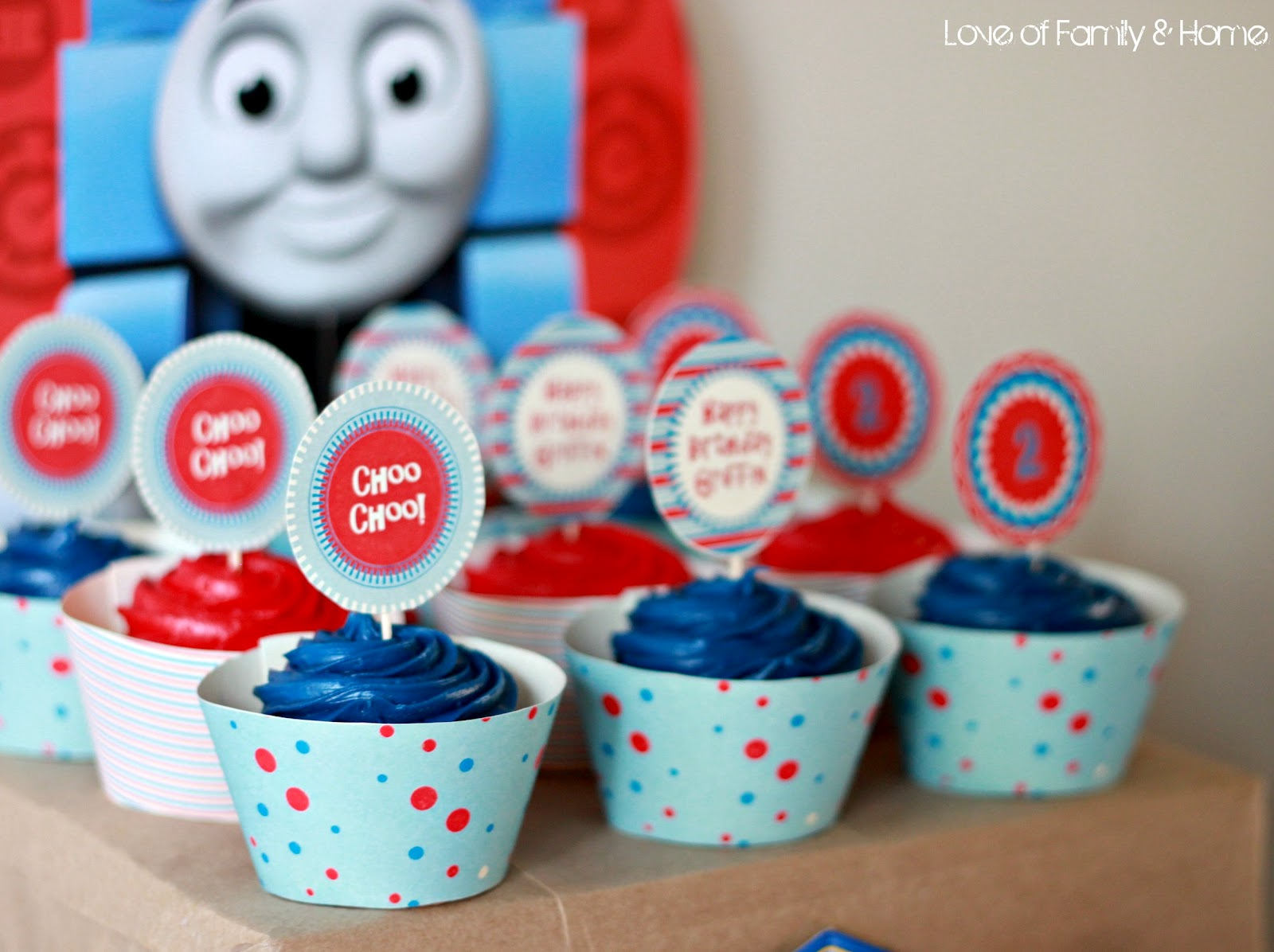Griffin Turns 2Thomas The Train Birthday Party Love of Family