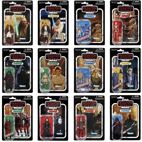 The Phantom Menace Toys : Art love action figures vintage carded wave from