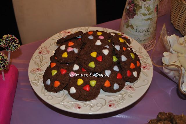 μπισκότα με m& ms
