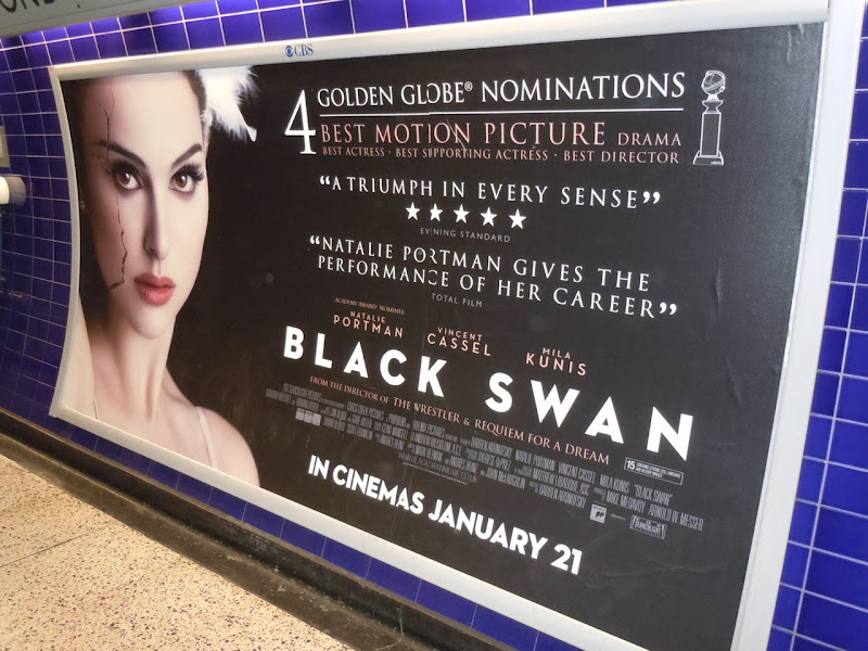 Black Swan UK tube poster