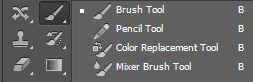 brush tool, pencil tool, belajar potoshop, adobe photoshop, toolbox photoshop cs6