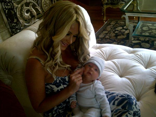 Kim Zolciak And Her Son KJ Cute Photos
