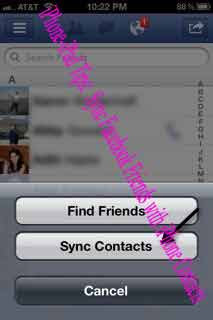 iPhone-iPad Tips:  Sync Facebook Friends with iPhone Contacts