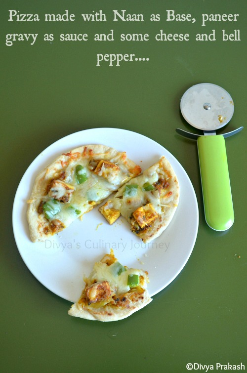 Pizza with naan, paneer pizza