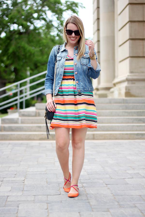 Fidelity Denim Jacket, Zara Colorblock Shoes