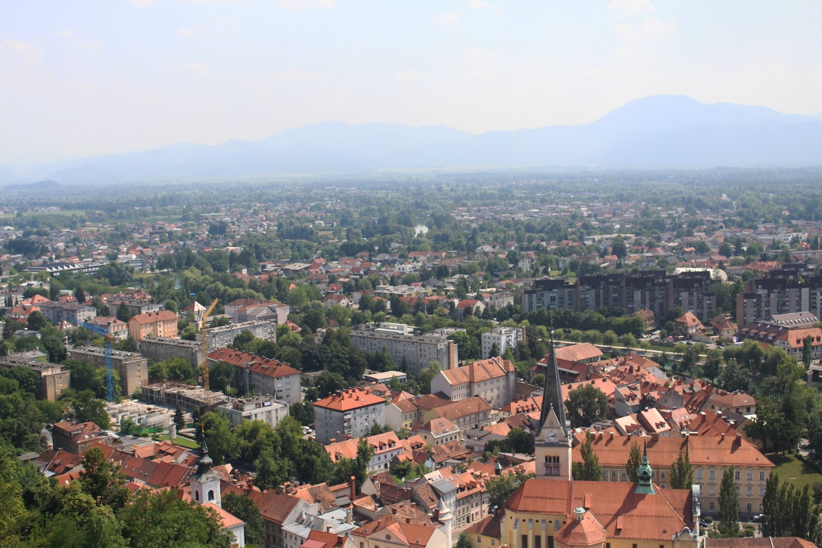 view of ljubljana slovenia from castle